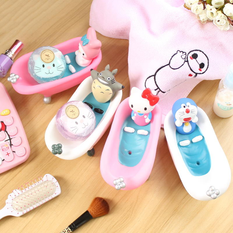 Kawaii Kitty Cat Cartoon Characters Bathtube Design Soap