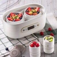 Ceramics Yogurt Maker frozen yogurt machine Natto/Rice Wine maker 3D heating with 2 liners & 6 ceramics cups