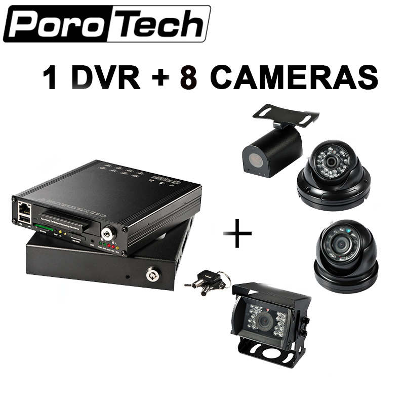 HDVR8085 8CH 1080P DVR with 8 camera video support GPS 4G WiFi Mobile DVR MDVR for car Bus RV truck use Security camera стоимость