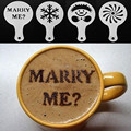 Coffee Latte Art Cappuccino Stencils Stainless Steel Plate Template