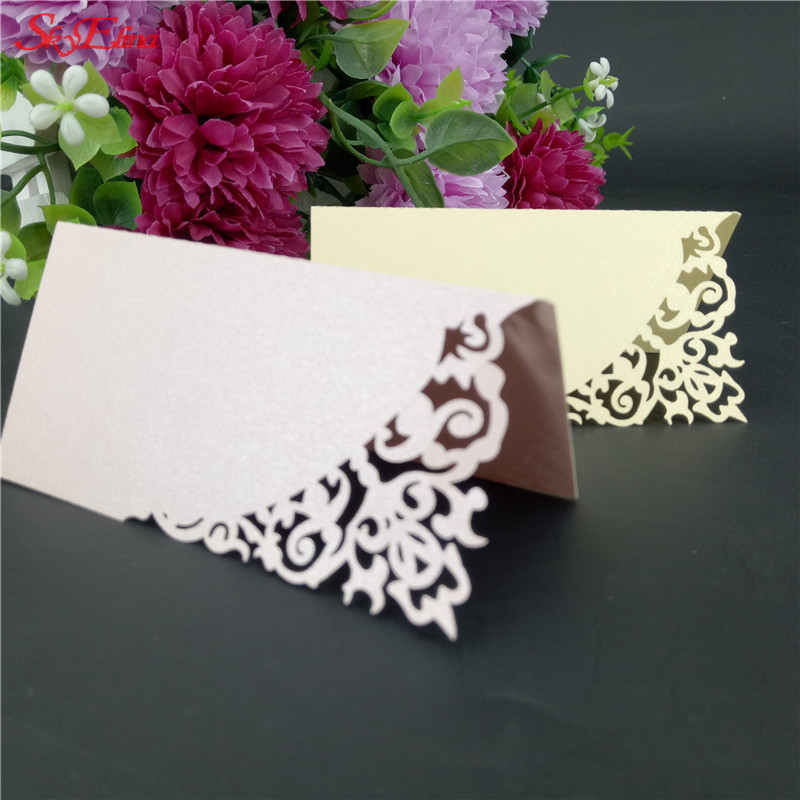 100pcs Laser Cutting 9*9 Cm Wedding Table Cards Wedding/baby Shower Kids Birthday Hollow Party Place Name Cards 7z-sh870-100 Cards & Invitations