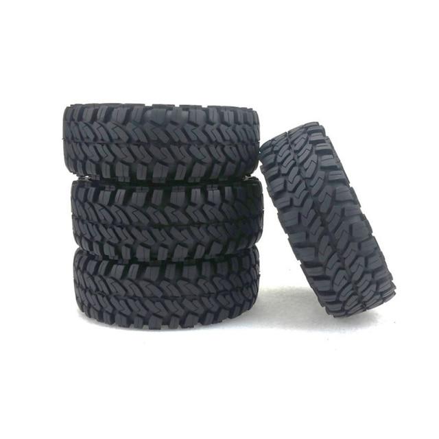 4 piezas 1,9 pulgadas rueda de neumáticos de piedras de goma para 1:10 RC Rock orugas Axial SCX10 D90 D110 TRX-4 YJS Dropship
