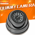 Black Fake Dummy Camera Security Camera With LED Flashing Lights For Property Security Use