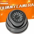 Preto Falso Manequim Câmera de Segurança Com LED Piscando Luzes Para Uso de Segurança De Propriedade