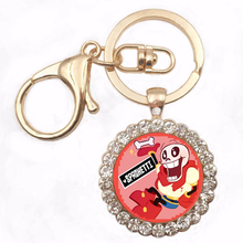UNew Steampunk Drama Gravity Falls Mysteries BILL CIPHER WHEEL Party Time keychain doctor who Retro DIY Women Key Ring Xmas Gift