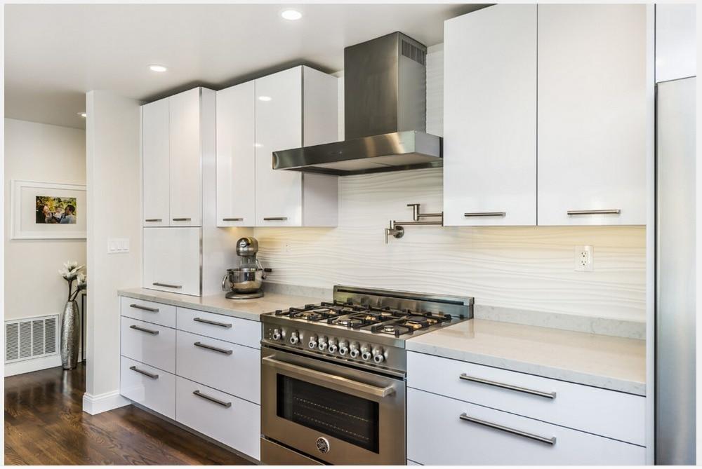 moderno muebles de cocina muebles de cocina modulares de alto brillo lacado blanco mueble de