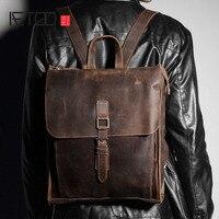 Aetoo кожа Сумка Мужчины первый слой кожаный рюкзак японский и корейский версия ретро досуг рюкзак