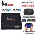 KII PRO декодер DVB-S2 DVB-T2 Android 7,1 Smart tv Box S905d четырехъядерный 2 Гб 16 Гб K2 pro 4K медиаплеер dvb t2 s2 двойной Wifi BT4.0