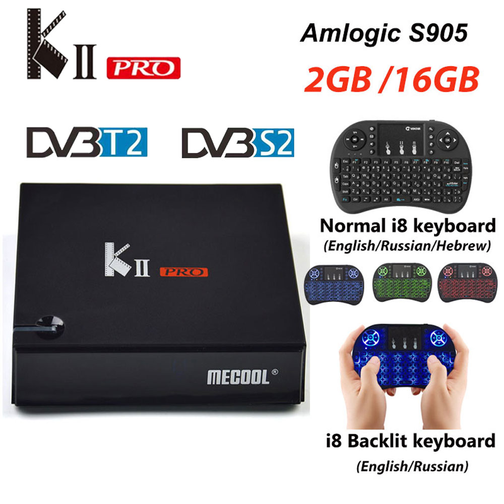KII PRO Decoder <font><b>DVB</b></font>-S2 <font><b>DVB</b></font>-<font><b>T2</b></font> <font><b>Android</b></font> 7.1 Smart <font><b>TV</b></font> <font><b>Box</b></font> S905d Quad Core 2GB 16GB K2 pro 4K Media player <font><b>dvb</b></font> <font><b>t2</b></font> s2 Dual Wifi BT4.0 image
