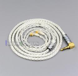 99% Pure Silver 8 Core 2.5mm 4.4mm 3.5mm Earphone Cable For Etymotic ER4 XR SR ER4SR ER4XR LN006437