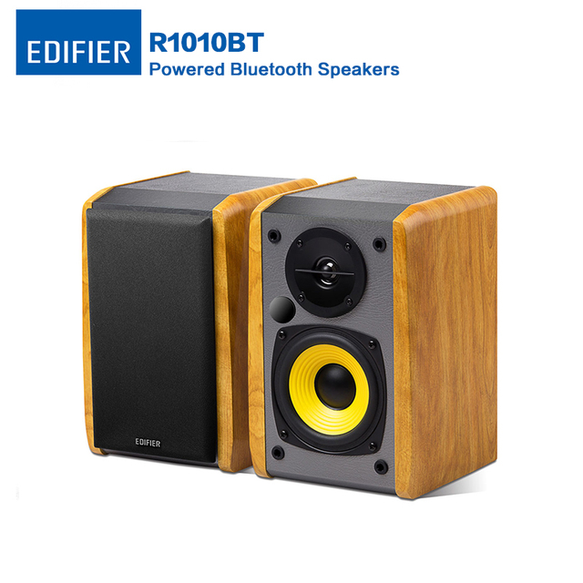 Edifier R1010BT Bluetooth Speaker Studio Wireless Bookshelf Built In Amplifier Eliminates Classic Wood Computer