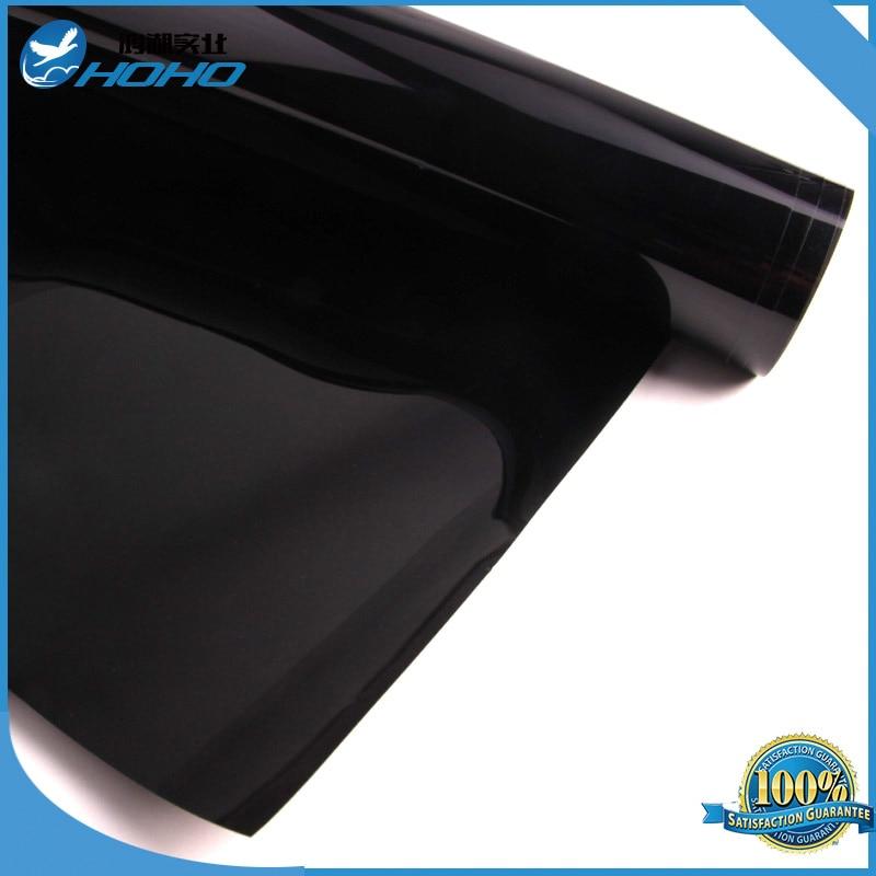 Black Color 5% VLT Automotive Window Tint Film Roll 60 x 100ft/1.52mx30m HIR0500 Nano Ceramic Film