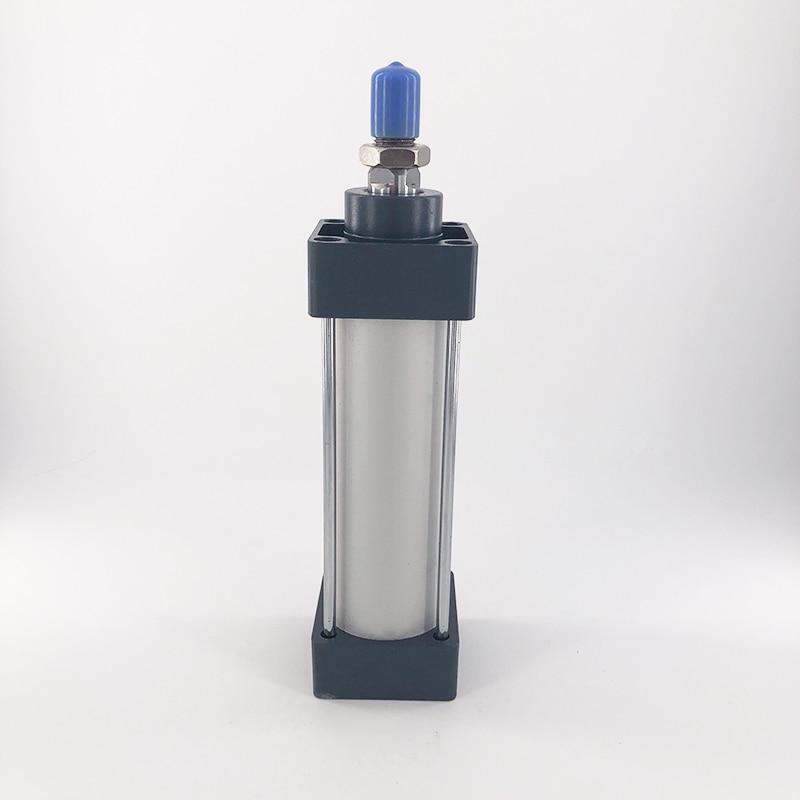 SC 40-50 40mm Bore 50mm Stroke Pneumatic Air Cylinder Silver Tone Black 1.0 MPa