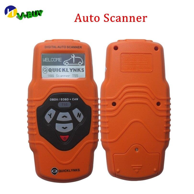 Obdii OBD2 Auto Scanner Lettore di T55 per Le Automobili E Autocarri Leggeri Dal 1990 Supporto Multilingue 78 Sistemi di Strumento di Diagnostica