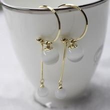 Opal eye jewelry S925 silver needle 2019 New ladies earrings fashion earrings for women opal eye drop earrings Simple jewelry fake opal geometry drop earrings