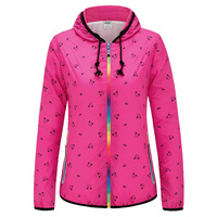 Women Running Jackets Spring Windproof Summer Sunscreen Breathable Jogging Jogger Gym Clothing Hooded Sport Coat