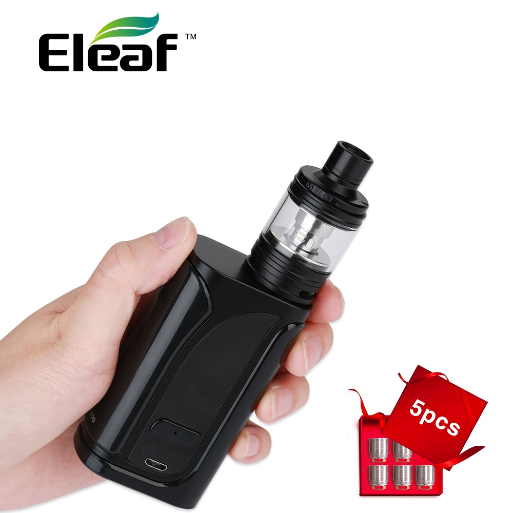 Originale Eleaf iKuun I200 TC Kit w/4.5 ml Melo 4 Atmoizer Costruito nel 4600 mAh Batteria & Gift 0.3ohm EC2 Bobina Vape Kit vs IKonn 220