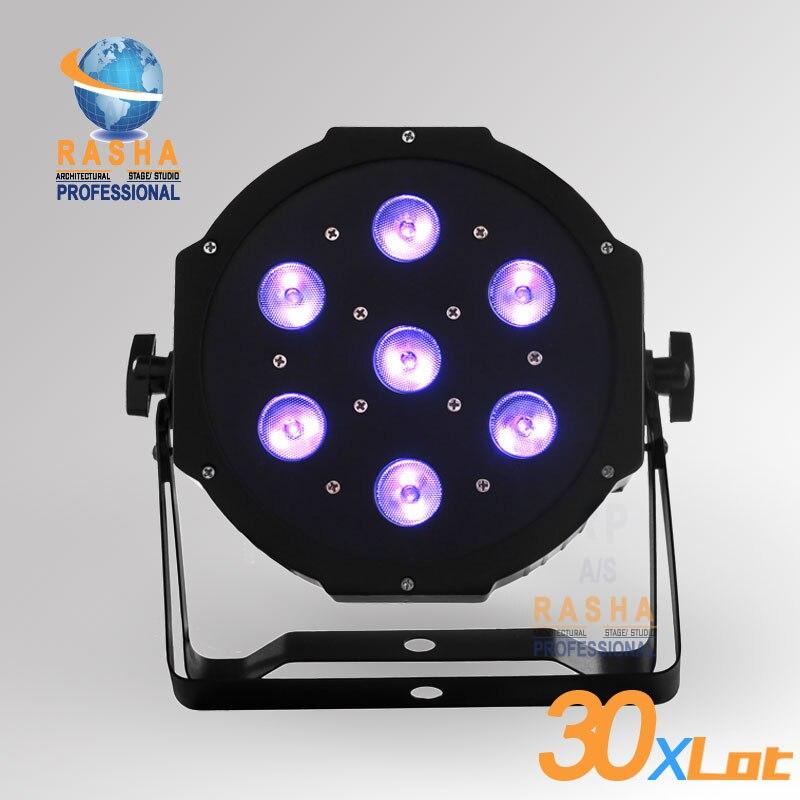 30X LOT Rasha Quad High Brightness 7*12W Quad LEDs (RGBA/RGBW) LED Mega Quadpar Profile,DMX Par Can,ADJ  LED PAR LIGHT 4x lot freeshipping adj 7 12w 4in1 quad leds rgba rgbw mega quad led par profile dmx led par can american stage light
