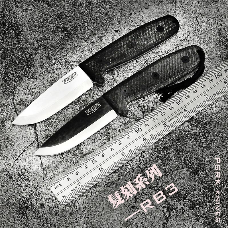 PSRK RB3 hunting knife D2 or 52100 blade Micarta handle EDC fixed knife outdoor camping survival tool tactical utility knife