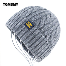 High quality gorro Winter Hats for Men Knitting wool Beanie
