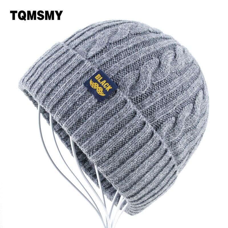 Hohe qualität gorro Winter Hüte für Männer Stricken wolle Beanie frauen Beiläufige Kappe der männer Beanies Plus samt knochen Solide farbe Skullies