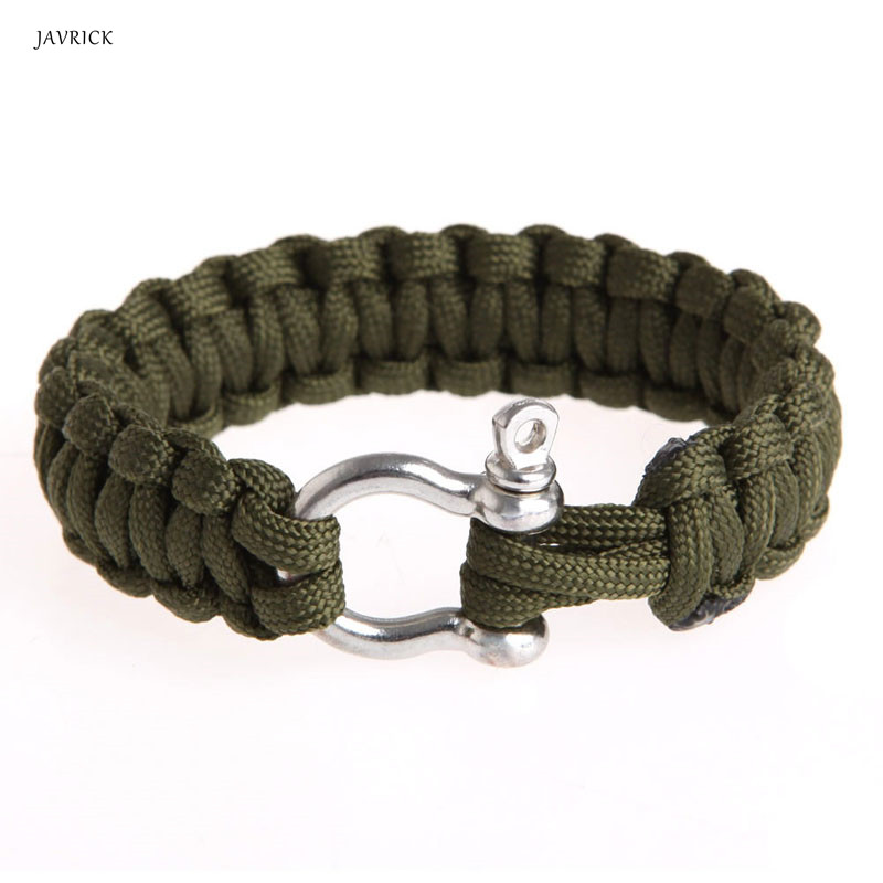 Paracord Survival Rope Bracelet Camping Hiking Friendship Steel Buckle