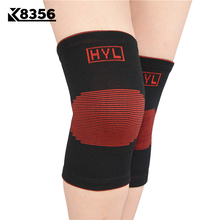 K8356 Nylon Knitted Knee Pads Volleyball Basketball Knee Protector Middle Aged Keep Warm Sports Safety Fitness Protective Gear