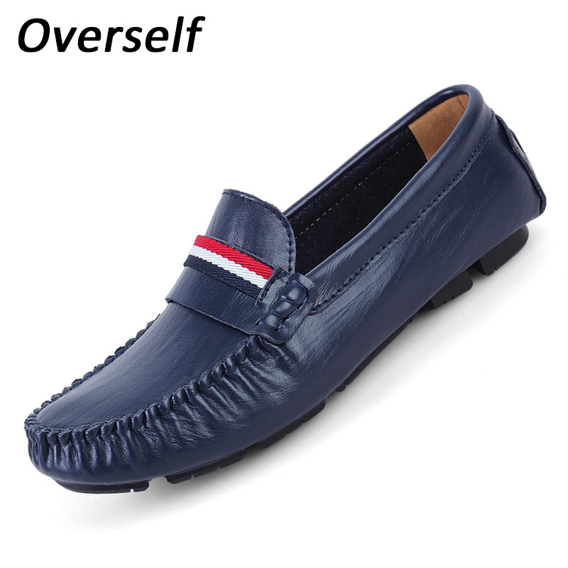 цены  Mens Shoes Casual New Fashion Loafers Moccasins Slip On Men's Flats Luxury Brand Male Boat Shoes Plus Size Driving Slippers