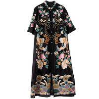 b42455d1727 Роскошное платье 2019 сезон  весна-лето стиль для женщин повторяющийся  изысканный вышивка короткий рукав