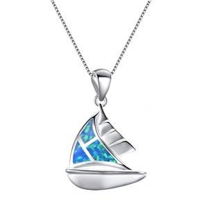 UFOORO necklace 925 silver blu