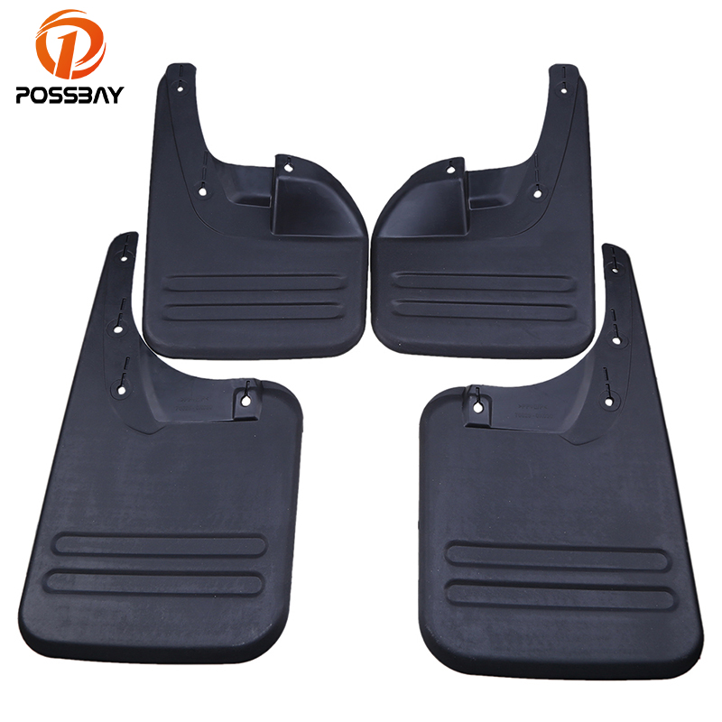 POSSBAY Car Mud Flaps Splash Guards for Toyota Hilux Vigo 2006-2014 Front Rear Mudguards Fender Flares Accessories Mud Guard for ford explorer 2013 2018 plastic more fashion front rear mud guard mudguards splash flaps cover protector trim 4 piece