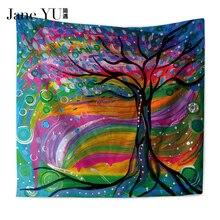 цены на JaneYU Oil Painting Tree Tapestry Mandala Floral Wall Art Carpet Life Wall Tapestry Sheet  в интернет-магазинах