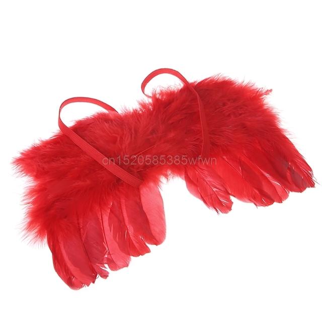 Stylish Newborn Baby Kids Feather Lace Headband & Angel Wings Flowers Photo Prop #HC6U# Drop shipping