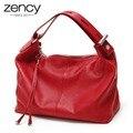 Clássico Designer de Moda Real de 100% Couro Genuíno OL Estilo Mulheres Bolsa Tote Bag Ladies Bolsas de Ombro de Preços Por Atacado 5 cores
