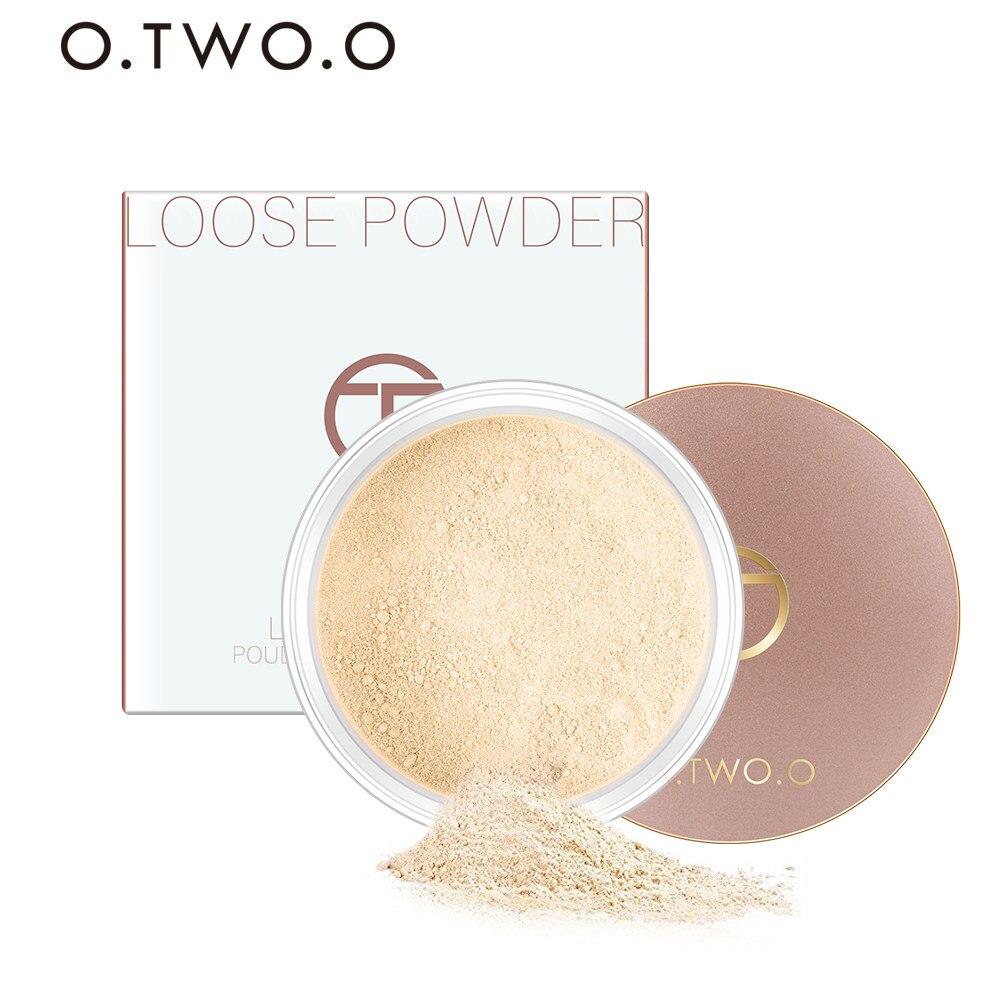 O. Dos. O suave polvo suelto mate maquillaje transparente acabado polvo impermeable para el acabado de la cara ajuste con soplo cosmético