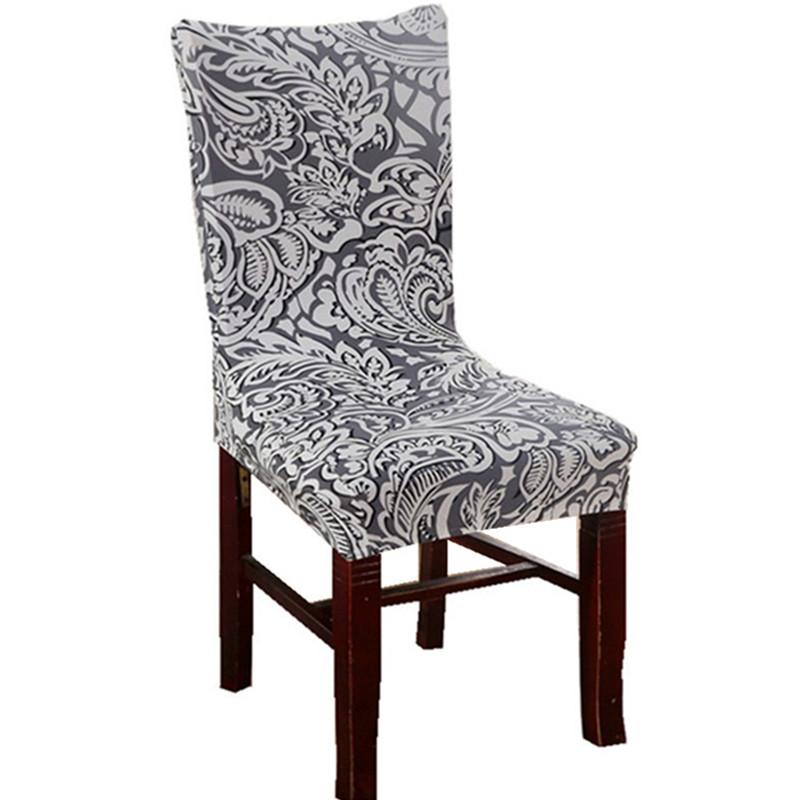gris hoja de fundas para sillas baratas elstico jacquard cubiertas de la silla para la decoracin