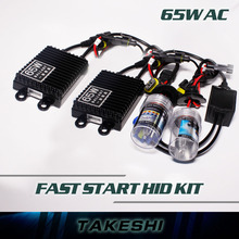 Free Shipping Best 12V 55W / 65W Fast Quick Start Bright Dual Beam H4-2 H4 HB2 9003 Halogen bulb HID Xenon kit Excellent Quality