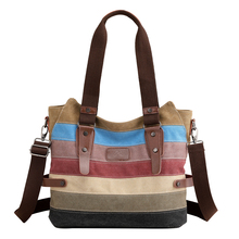 Fashion Canvas Patchwork Women Shoulder Bags High Quality Women Shoulder Bag Large Capacity Crossbody Bags Female Messenger Bags цена в Москве и Питере