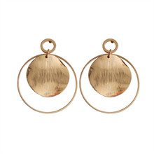 Silver round sell like hot cakes Contracted joker earrings fashion stud  women girls The circle