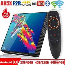 A95X R3 חכם אנדרואיד טלוויזיה תיבת אנדרואיד 9.0 Rockchip RK3318 2.4G/5G Wifi BT4.0 4GB 64GB Google נגן ממיר