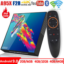 A95X R3 Smart Android TV Box Android 9.0 Rockchip RK3318 2.4G/5G Wifi BT4.0 4GB 64GB Google Player Set Top Box