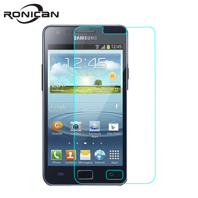 RONICAN For Samsung S2 Screen Protector Protective Film Tempered Glass for Galaxy GT i9100 S II S2 plus GT-i9100 9100 Case cover