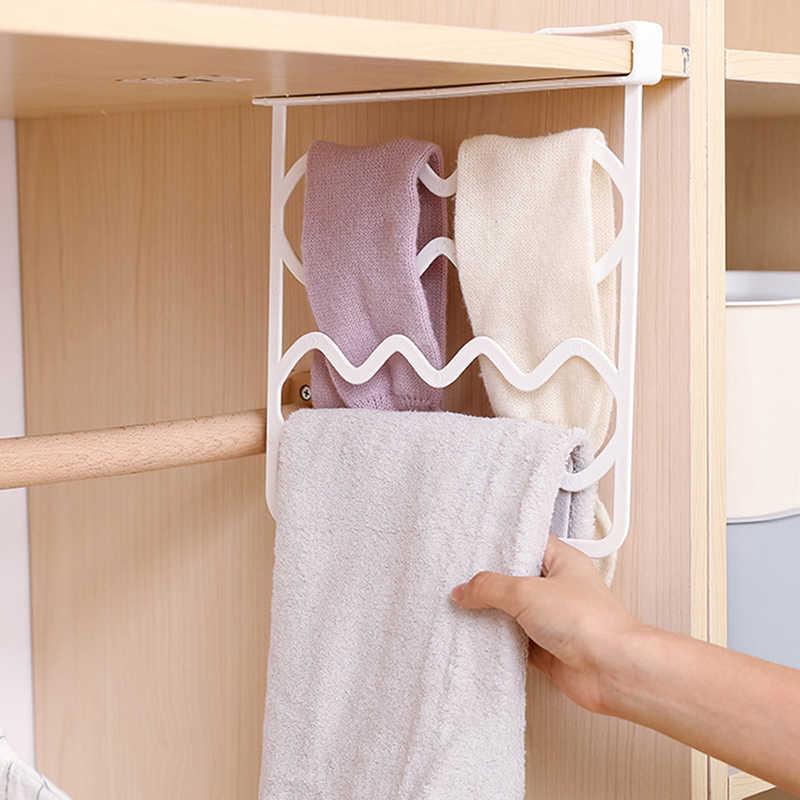 ตู้เสื้อผ้าชั้นวางแบ่งตู้เสื้อผ้า Partition ชั้นวาง Divider เสื้อผ้าชั้นวางจัดเก็บหน้าแรกตกแต่ง 2 สี