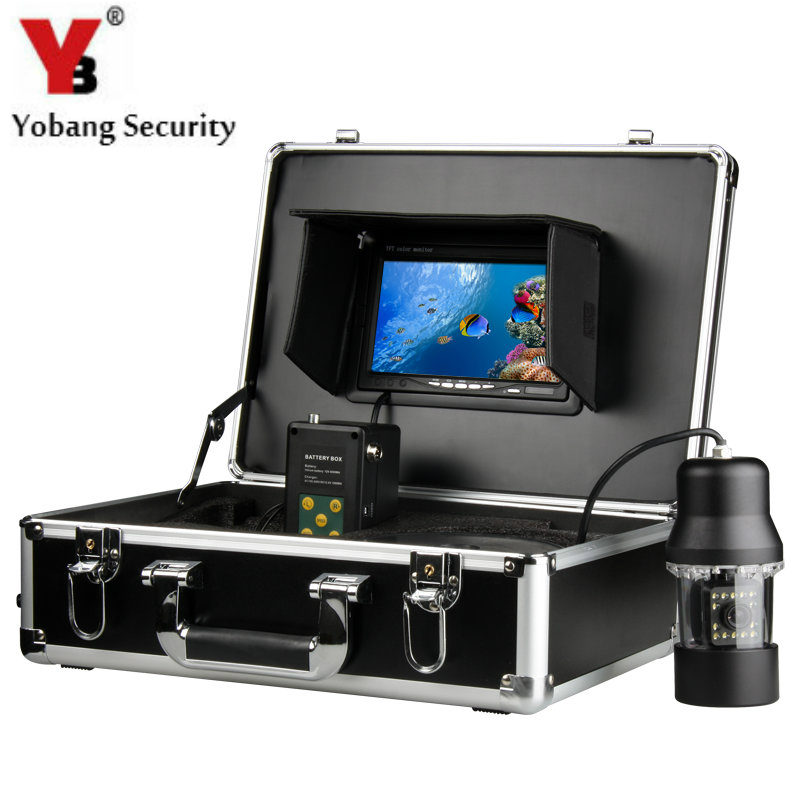 YobangSecurity 1/3 CCD 700TVL Underwater Fishing Camera video Fish Finder 7 LCD Monitor LED Rotate 360 Degree With DVR recorder