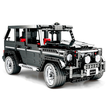 1343Pcs Technic Series MOC 2425 G500 AWD Wagon RC off Road Car Set Building Block Bricks Toys Compatible with Legoings 303 1486pcs technical series the ultimate sliver champion f1 racing set compatible with 8458 21001 05033 building block car toys