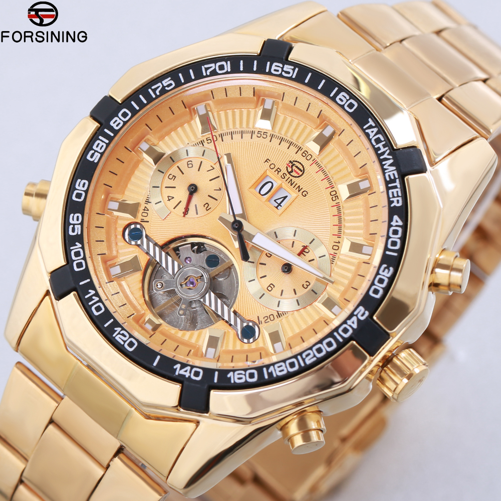 2018 New Top Fashion Forsining Tourbillon Watches Men Automatic Watches Men Stainless Steel Mechanical Watch Relogio Masculino unique smooth case pocket watch mechanical automatic watches with pendant chain necklace men women gift relogio de bolso