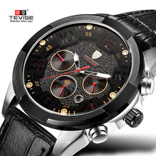 TEVISE Mens Watches Top Brand reloj homb