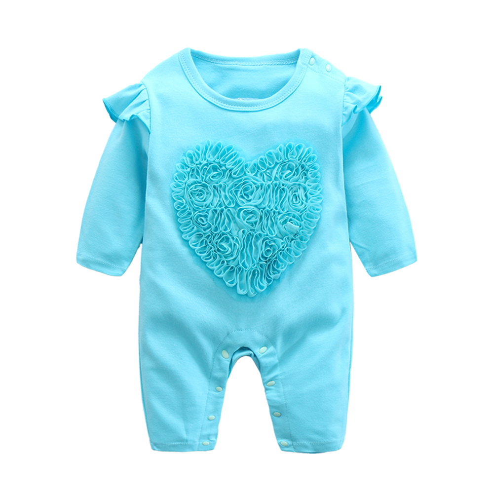 Fairy Baby Newborn Infant Girl Jumpsuit Lace Rose Print Onesie