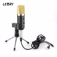 LEORY Professional USB Condenser Microphone With Stand Mount For Recording Radio Studio Microphone Karaoke Microfono KTV Singing