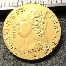 1785 Франция 2 луидор копия золотой монеты